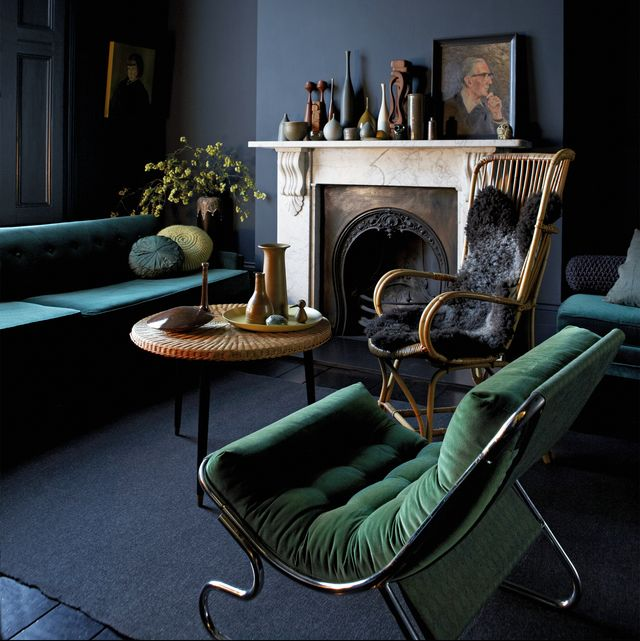 home-decor-2020-living-room-blue-and-green 10 Latest Decor Trend Forecasts for Winter 2020