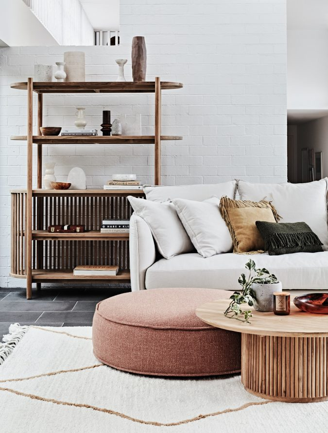home-decor-living-room-Tully-Bookcase-Coffee-earthy-colors-675x891 10 Latest Decor Trend Forecasts for Winter 2020