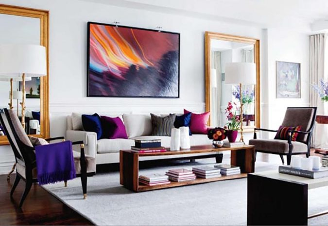 home-decor-living-room-abstract-artwork-675x467 10 Latest Decor Trend Forecasts for Winter 2020