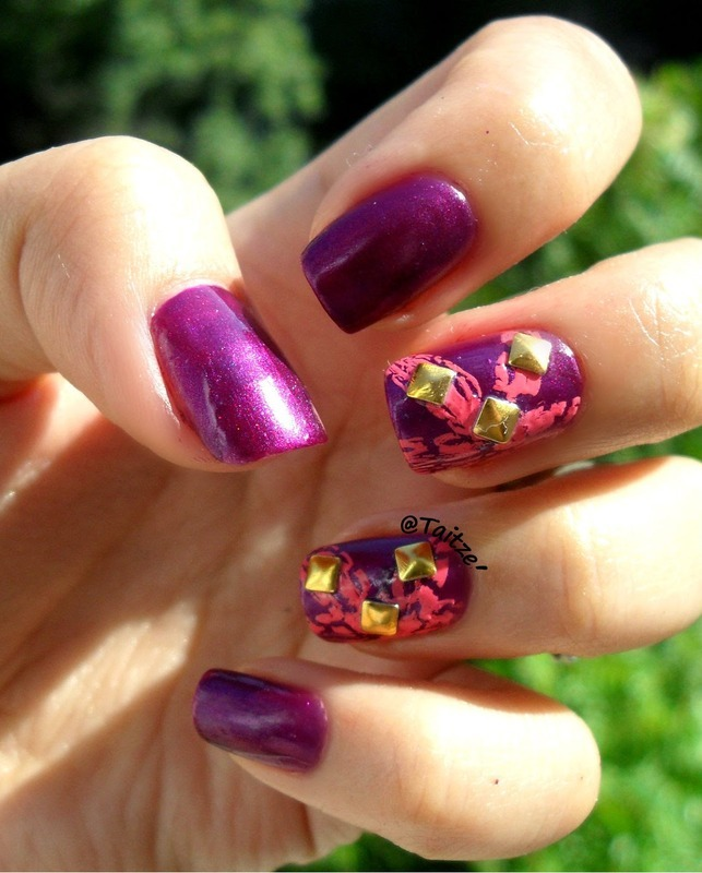 jewel-purple-nails-2 10 Lovely Nail Polish Trends for Next Fall & Winter