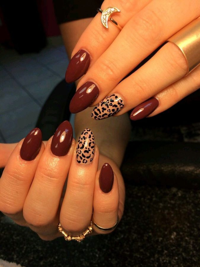 maroon-nails-animal-prints-nail-art-675x900 Top 10 Most Luxurious Nail Designs for 2020