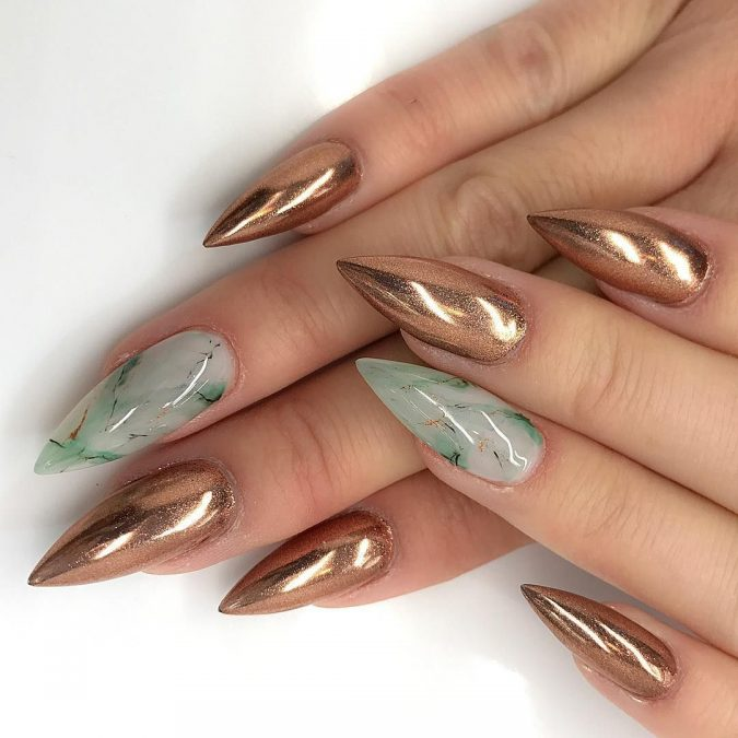 metallic-gemstone-nails-675x675 Top 10 Most Luxurious Nail Designs for 2021