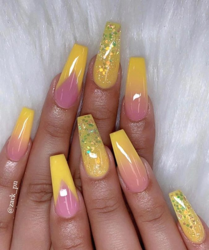 natural-and-yellow-nails-french-nails-675x805 Top 10 Most Luxurious Nail Designs for 2021