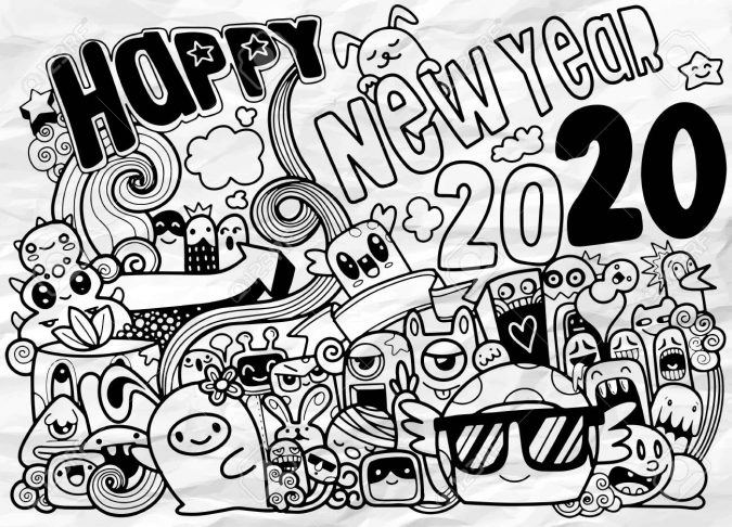 new-year-cartoon-greeting-card-2020-2-675x486 75+ Latest Happy New Year Greeting Cards for 2021
