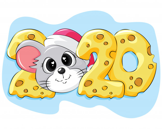 new-year-cartoon-greeting-card-2020 75+ Latest Happy New Year Greeting Cards for 2021