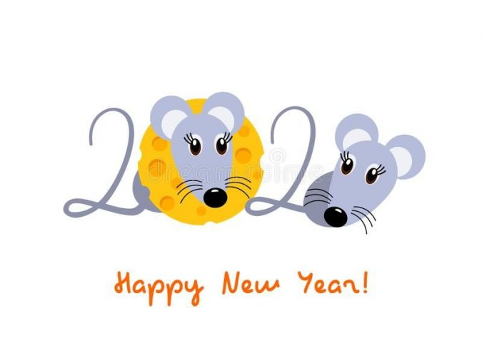 new-year-cartoon-greeting-card-675x481 75+ Latest Happy New Year Greeting Cards for 2020