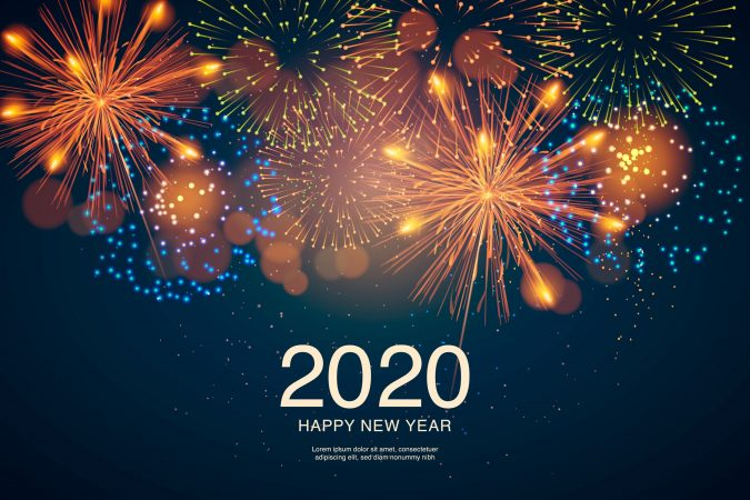 new-year-fireworks-greeting-card-675x450 75+ Latest Happy New Year Greeting Cards for 2020
