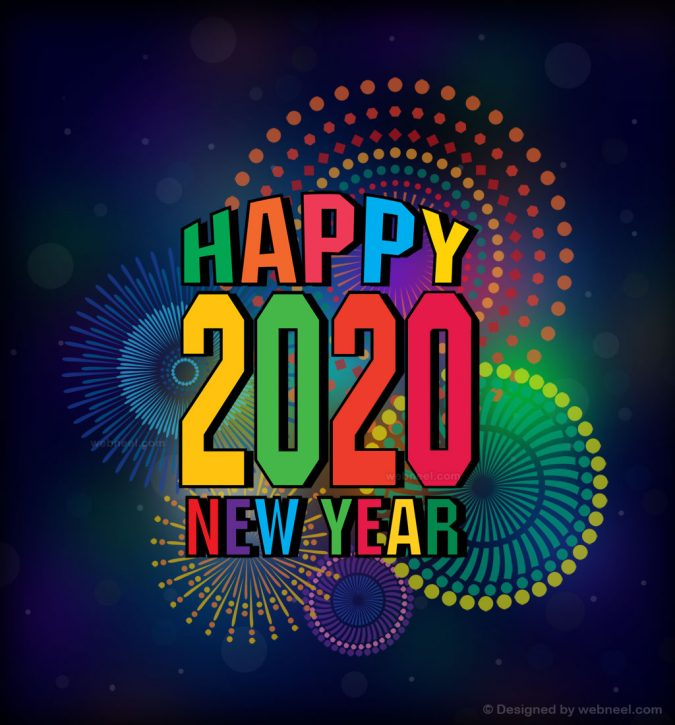 new-year-greeting-card-2020-fireworks-2-675x725 75+ Latest Happy New Year Greeting Cards for 2020