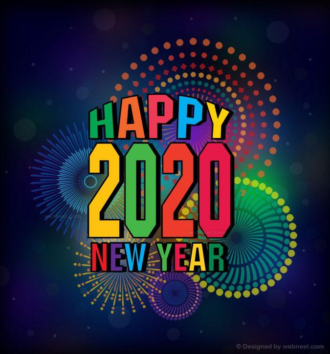 new-year-greeting-card-2020-fireworks-2-675x725 75+ Latest Happy New Year Greeting Cards for 2021