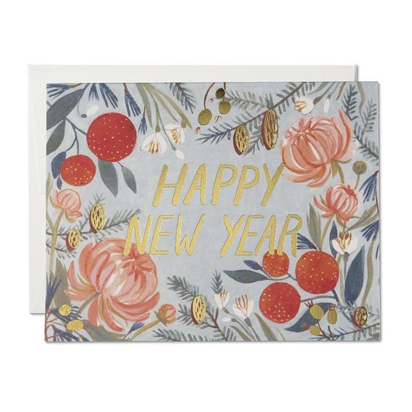 new-year-greeting-card-floral-2020 75+ Latest Happy New Year Greeting Cards for 2020