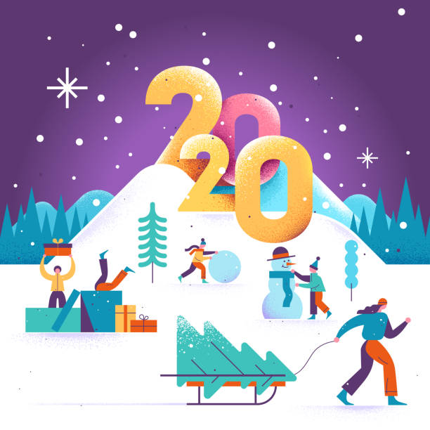 new-year-winter-greeting-card-2020-2 75+ Latest Happy New Year Greeting Cards for 2021