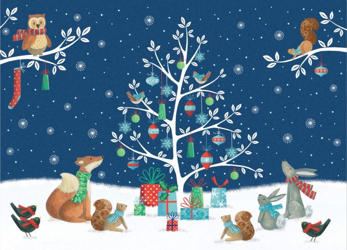 new-year-woodland-creatures-greeting-card-675x486 75+ Latest Happy New Year Greeting Cards for 2021