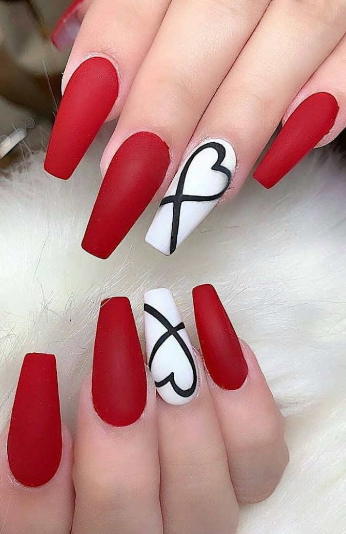 red-and-white-nails-675x1043 10 Lovely Nail Polish Trends for Next Fall & Winter