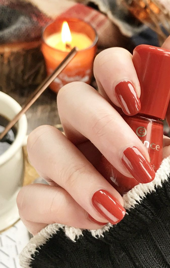 spice-paprika-nails-675x1064 10 Lovely Nail Polish Trends for Next Fall & Winter