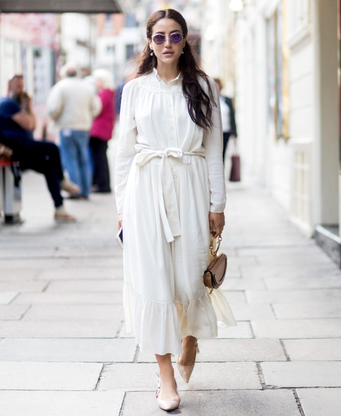 women-outfit-white-dress-675x824 How to Dress for a Day Out in New York City