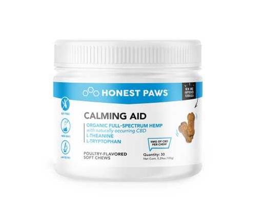 Honest-Paws-Calming-Aid-CBD-Chewables 10 of Best CBD Treats for Pets