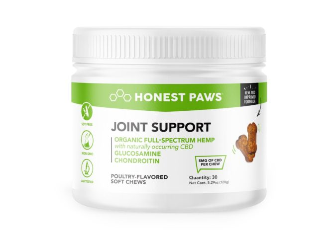 Honest-Paws-Joint-Support-CBD-Chewables-CBD-treats-for-pets-675x469 10 of Best CBD Treats for Pets