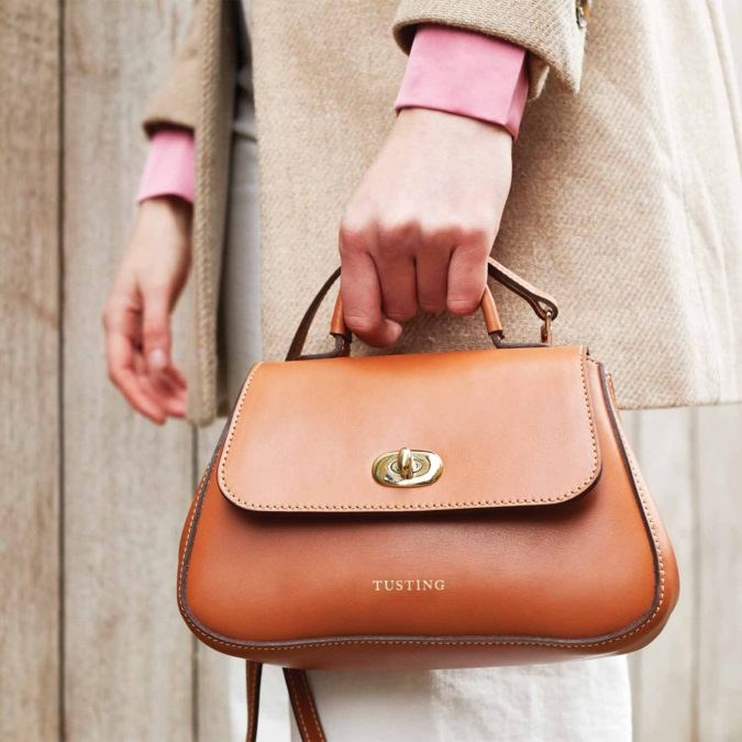 Tusting-Mini-Holly-Tan-handbag-1-675x675 15 Most Creative Handbag Designers in the UK