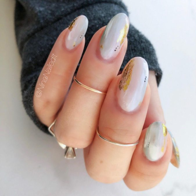 abstract-nail-art-2-675x675 35 Most Trendy Valentine's Day Nail Art Designs