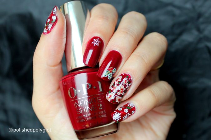 red-floral-nail-art-675x450 35 Most Trendy Valentine's Day Nail Art Designs