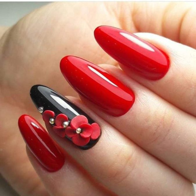 red-nail-art-675x675 35 Most Trendy Valentine's Day Nail Art Designs