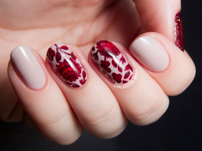 ruby-red-nail-art-2-675x506 35 Most Trendy Valentine's Day Nail Art Designs