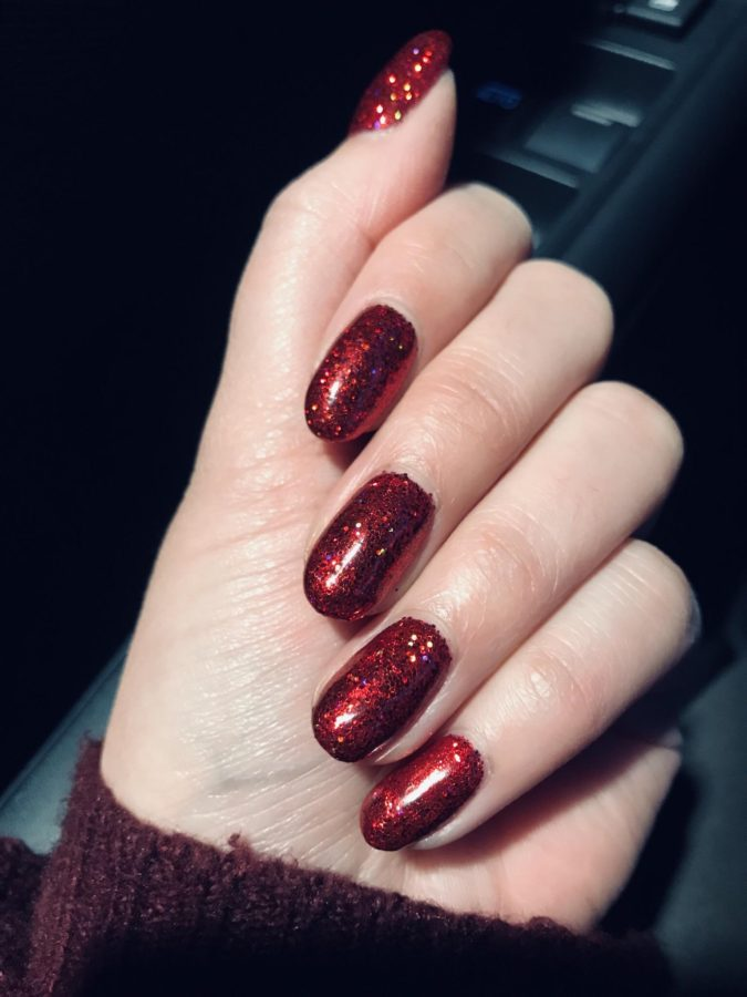 ruby-red-nail-art-675x900 35 Most Trendy Valentine's Day Nail Art Designs