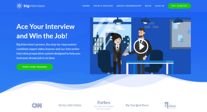 Big-Interview-screenshot-675x365 Best 50 Online Job Search Websites