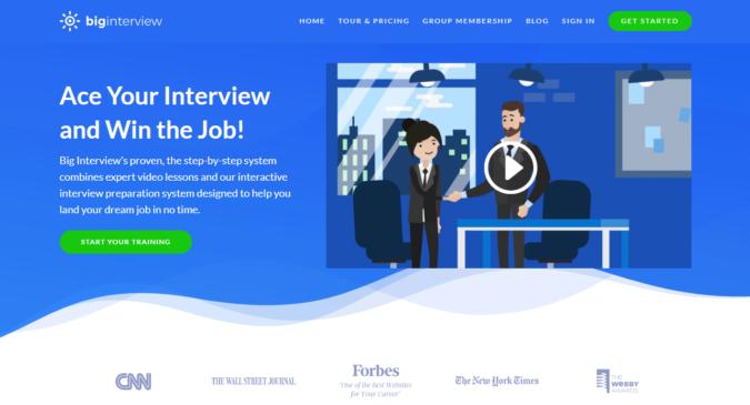 Big-Interview-screenshot-675x365 Best 50 Online Job Search Websites
