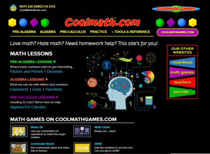 Coolmath-screenshot-675x497 Top 50 Free Learning Websites for Kids in 2020