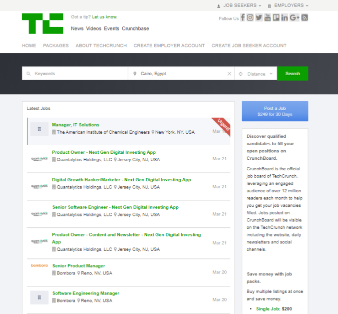 Crunchboard-screenshot-675x627 Best 50 Online Job Search Websites