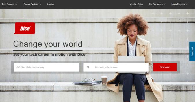 Dice-screenshot-675x354 Best 50 Online Job Search Websites
