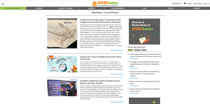 DogoNews-screenshot-675x335 Top 50 Free Learning Websites for Kids in 2020