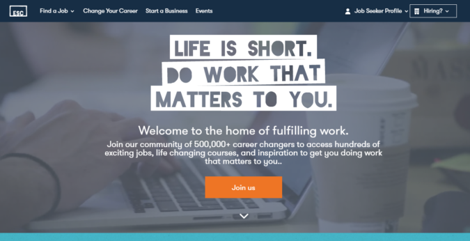 ESC-website-screenshot-675x346 Best 50 Online Job Search Websites