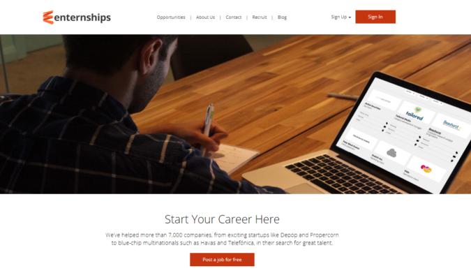 Enternship-screenshot-675x388 Best 50 Online Job Search Websites