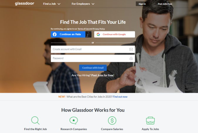 Glassdoor-screenshot-675x453 Best 50 Online Job Search Websites