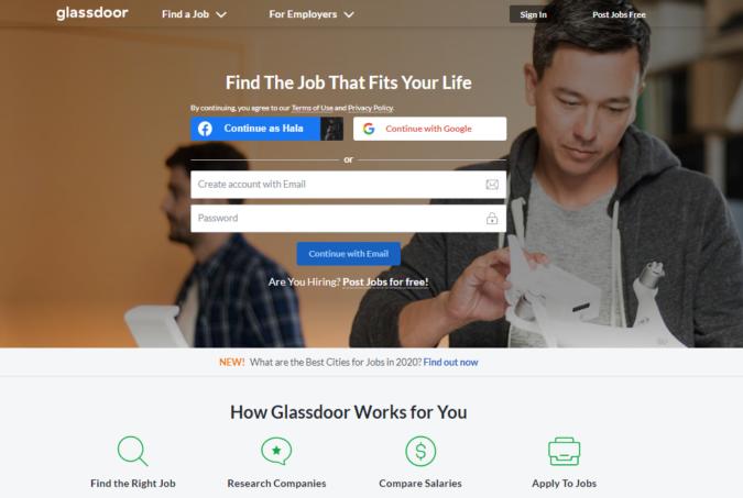 Glassdoor-screenshot-675x453 Best 50 Online Job Search Websites
