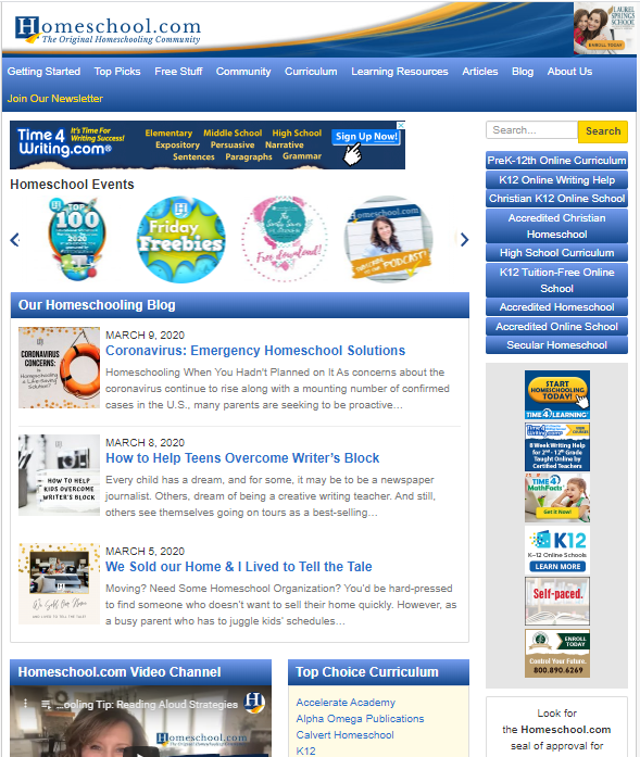 Home-School-website-screenshot Top 50 Free Learning Websites for Kids in 2020