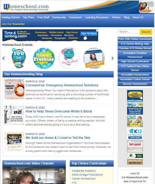 Home-School-website-screenshot Top 50 Free Learning Websites for Kids in 2020