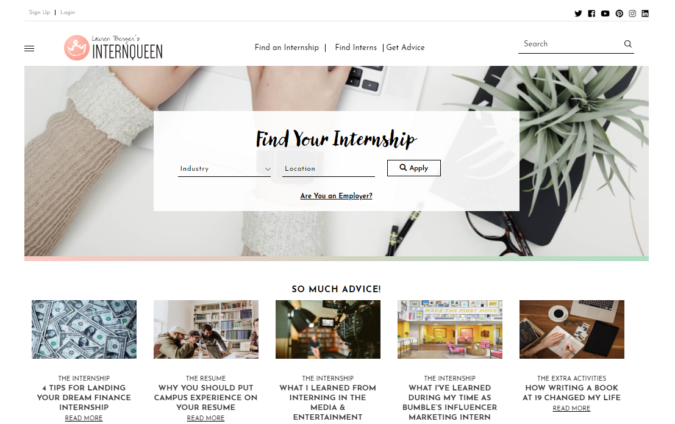 Internships-screenshot-675x424 Best 50 Online Job Search Websites