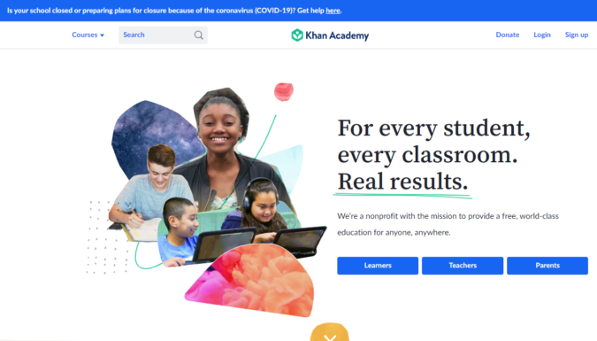 Khan-Academy-screenshot-675x385 Top 50 Free Learning Websites for Kids in 2021