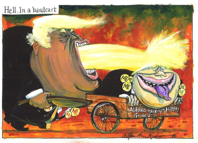 Martin-Rowson-cartoon-2-675x488 Top 20 Most Famous Cartoonists in The World 2020