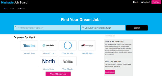 Mashable-Job-Board-screenshot-675x319 Best 50 Online Job Search Websites