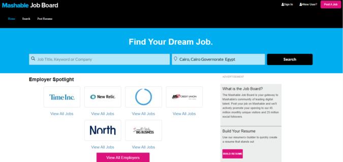 Mashable-Job-Board-screenshot-675x319 Best 50 Online Job Search Websites
