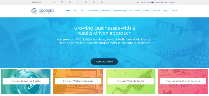 Odyssey-website-screenshot-675x311 Top 75 SEO Companies & Services in the World