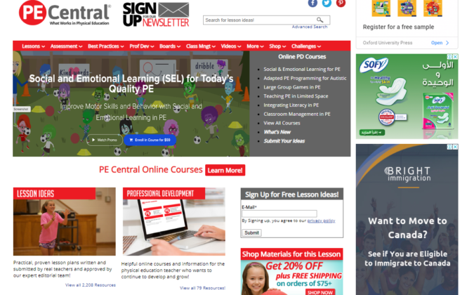 PE-Central-screenshot-675x420 Top 50 Free Learning Websites for Kids in 2020