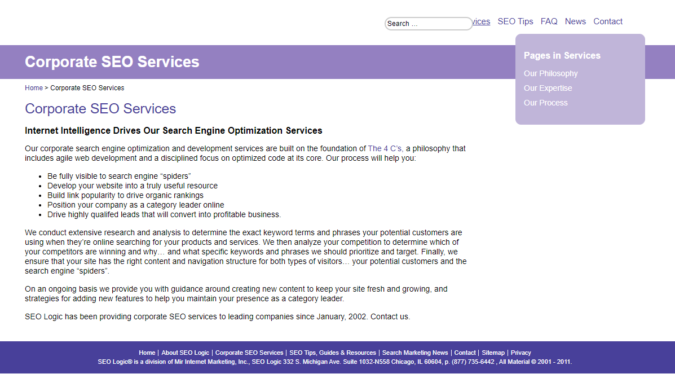 SEO-Logic-screenshot-675x374 Top 75 SEO Companies & Services in the World