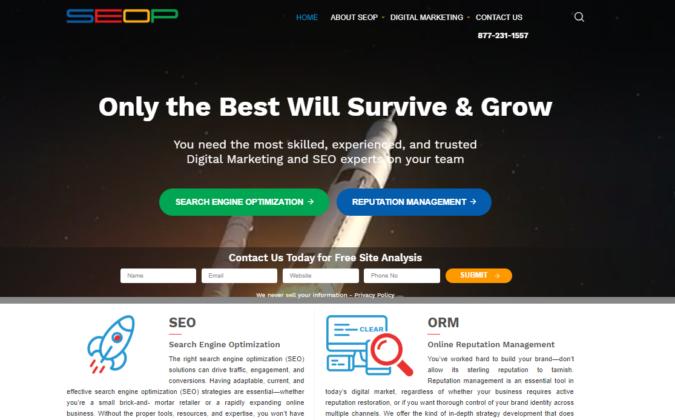 SEOP-website-screenshot-675x420 Top 75 SEO Companies & Services in the World