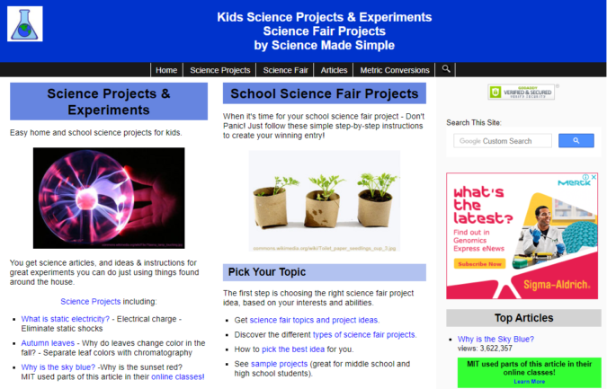 Science-Made-Simple-screenshot-675x433 Top 50 Free Learning Websites for Kids in 2020