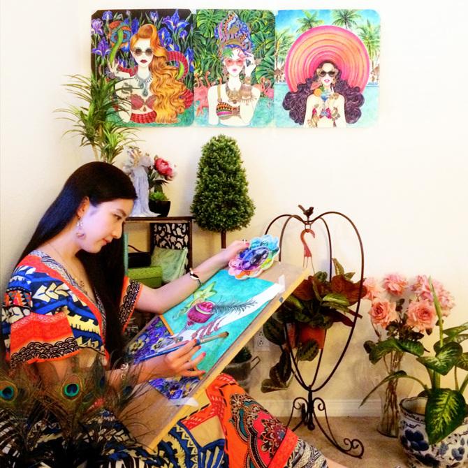 Sunny-Gu. 20 Most Creative Fashion Illustrators in The USA